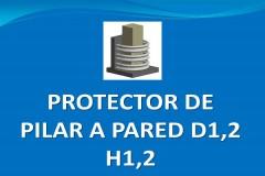 Protector de pilar a pared D1,2 H1,2