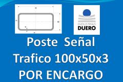 Postes tubo rectangular 100x50 taladros por encargo