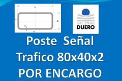 Postes tubo rectangular 80x40 taladros por encargo