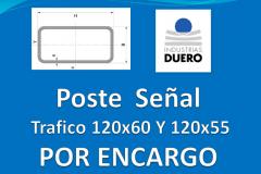 Postes tubo rectangular 120x60 y 120x55 taladros por encargo