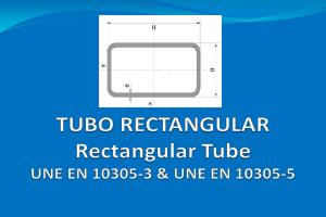 Tubería rectangular