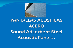 Sound adsorbent steel acoustic panels
