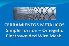 Simple torsion - cynegetic electrowelded wire mesh