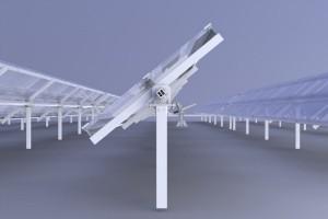 Seguidor solar a un eje