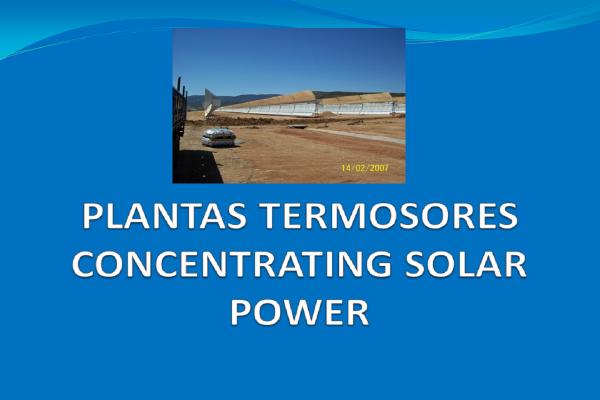 Componentes para plantas termosolares