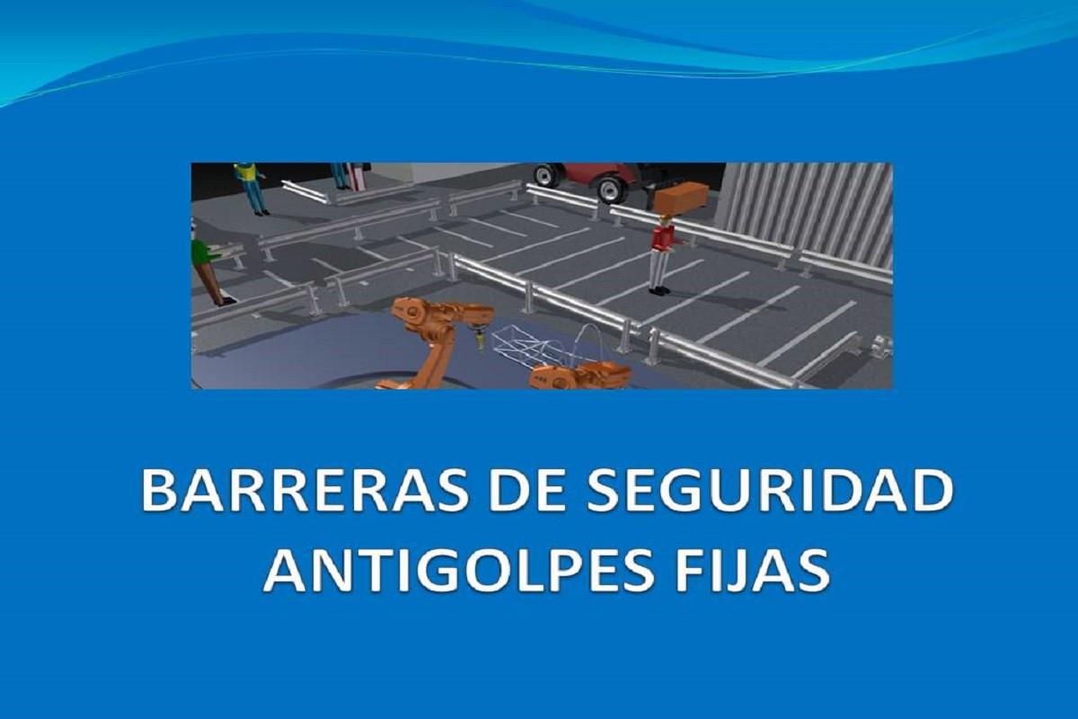 Barreras de seguridad antigolpes fijas para industria - Barrera de seguridad ...