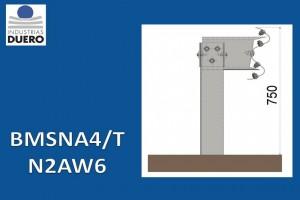 BMSNA4/T Barrera metálica simple