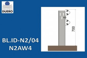 BL.ID-N2/04 Barrera metálica simple