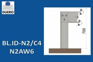 BL.ID-N2/C4 Barrera metálica simple