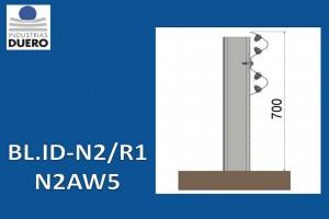 BL.ID-N2/R1 Barrera metálica simple