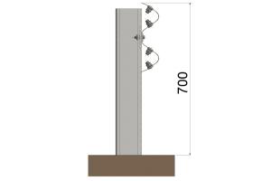 BLIDN2R0 Barrera metálica simple
