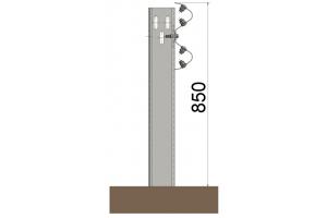 BLIDH2C13 Barrera metálica simple
