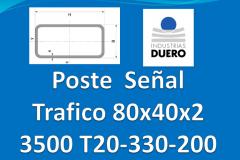 Postes tubo rectangular 80x40x2 L 3.000 mm T20-330-200