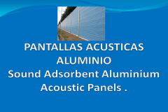 Sound adsorbent aluminium acoustic panels