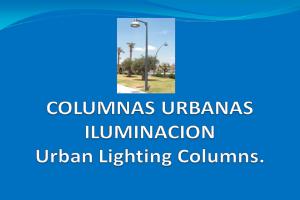 Columnas urbanas de iluminación