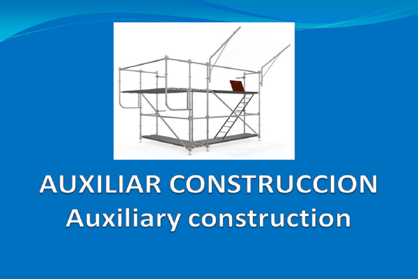 Andamios- Puntales . Auxiliares de construcción