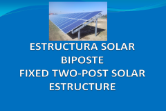 Fixed two-post solar estructure