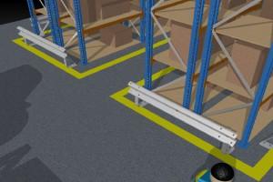 Barreras de protección de estanterías industriales