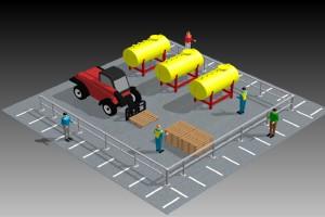Barreras de protección industrial para personas