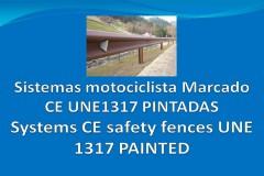 Sistemas motociclista CE metal-madera para integración paisajística