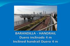 Barandilla DUERO inclinada 4m con pie de anclaje