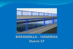 Barandilla DUERO S7 2,6 m con placa de anclaje