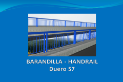 Handrail DUERO S7 2,6m with anchor plate