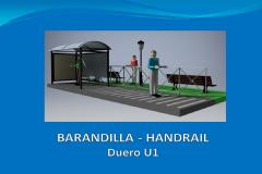 Handrail DUERO U1 1 m embedded in the foundation