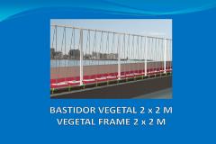 Bastidor vegetal 2x2 m con placa de anclaje